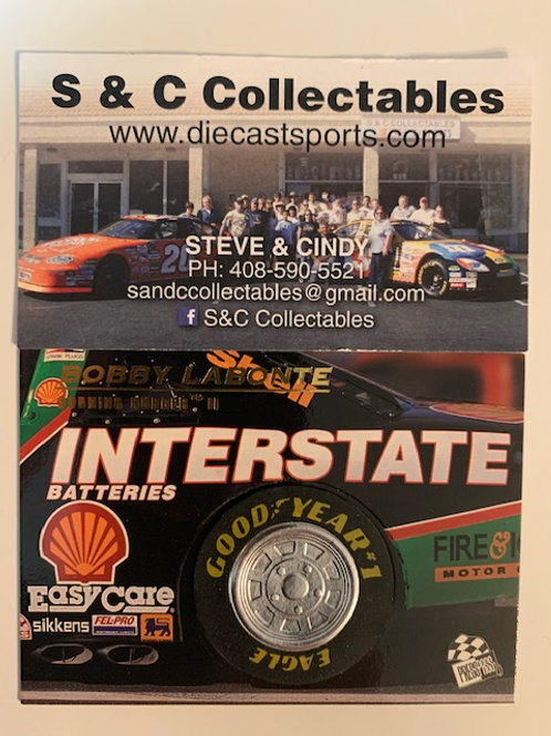 1996 Race-Used Piece of Tire / Bobby Labonte  Cards
