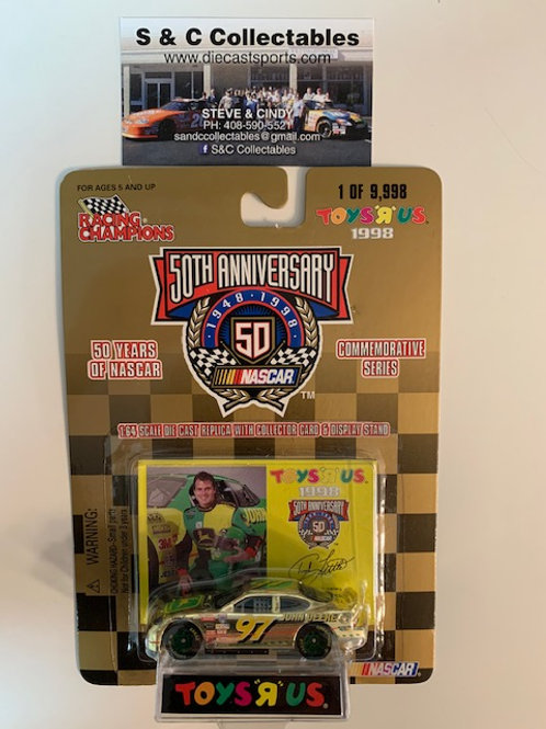 1998 John Deere Toy's R Us Gold Car / Chad Little 1:64  Box# 42