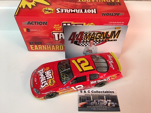 2003 Autographed Hot Tamales / Kerry Earnhardt 1:24  Wall