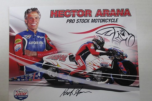 2013 Autographed Lucas Oil  Pro Stock Motorcycle  / Hector Arana