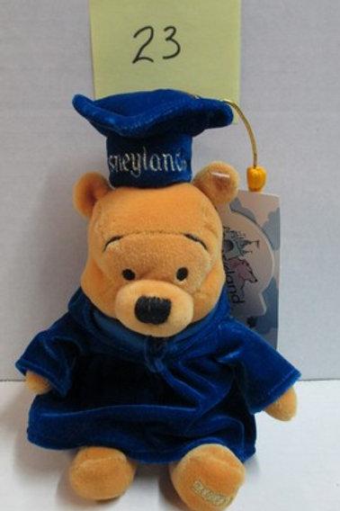 """2001 Graduate Pooh 8"""" / Disney Beanies"""