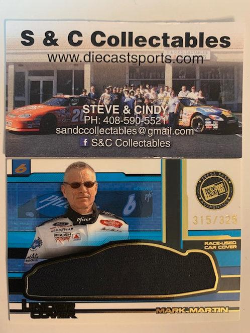 2004 Race-Used Car Cover / Mark Martin  Cards