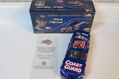 2006  Autographed Coast Guard Busch Grand National  / Kevin Harvick 1:24  Wall