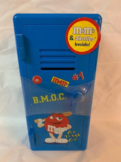 2002 M&M  Mr. Blue Go Team Go Valentine Blue Locker (Never Opened) / M&M Stuff