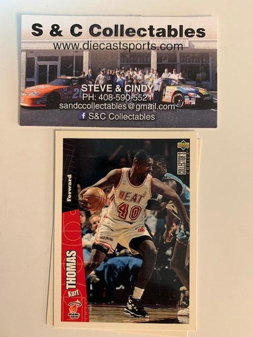 1996-97 Upper Deck Kurt Thomas Forward Card# 81 / Basketball--BK1