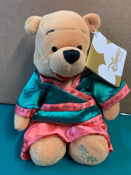 """Disney Beanies Willie the Pooh Bear China Family 8"""""""