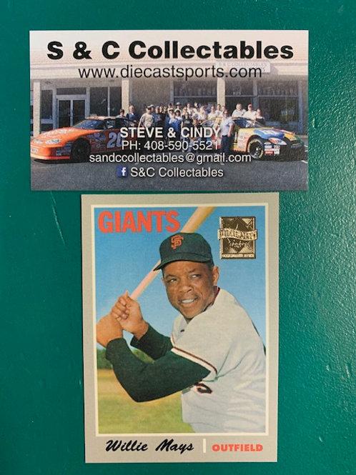 1996 Topps Commemorative Willie Mays San Francisco Giants / Baseball   Box# B1