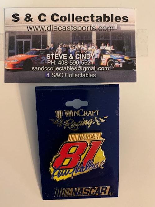 1998 NASCAR #81 Hat Pins / Kenny Wallace  Hat Pin #5
