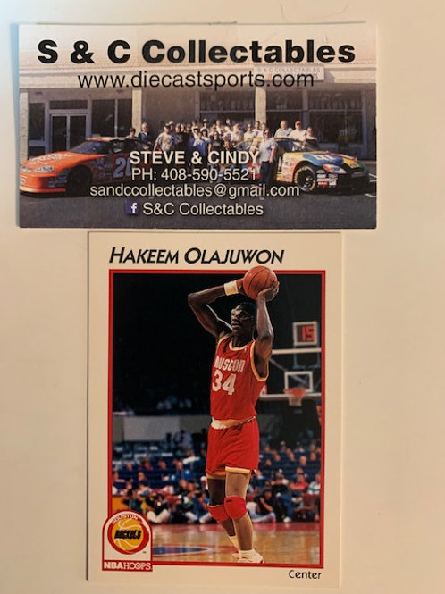1991-92 NBA Hoops Hakeem Abdul Olajuwon Card# 16 / Basketball-BK1
