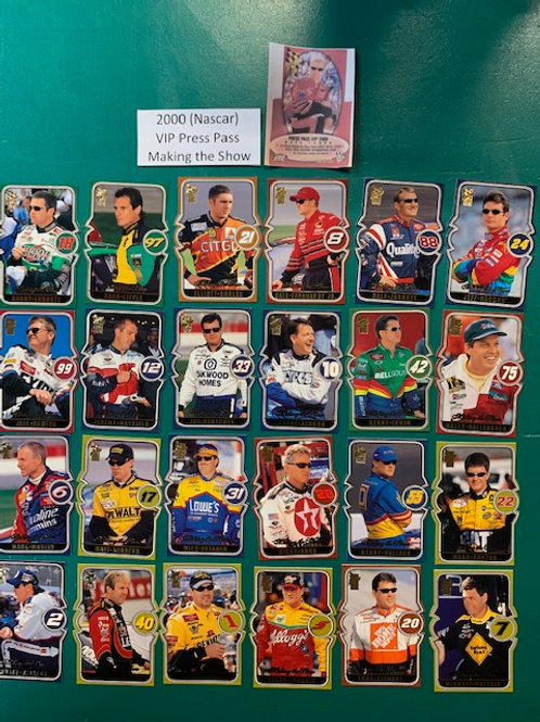2000 VIP Press Pass Making the Show 24 Card Set  (NASCAR)  Box# BB