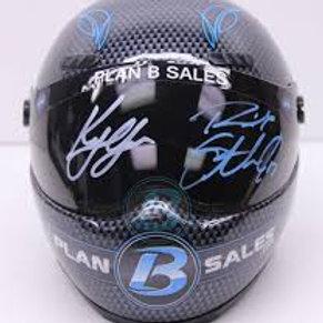 2017 Autograph Plan B Mini Helmet / Kyle Larson & Ricky Stenhouse Jr.  1/4  Wall