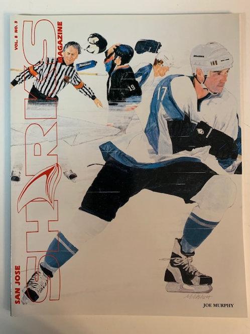 1998 San Jose Sharks Magazine Vol. 8 No.3 / Joe Murphy