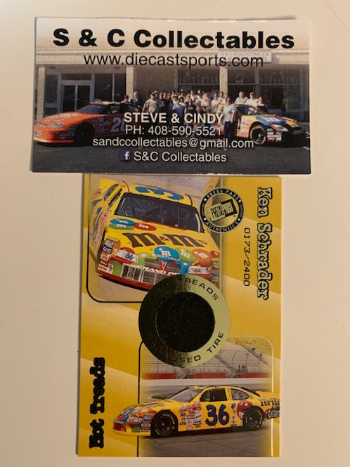 2001 Race-Used Piece of Tire / Ken Schrader Cards