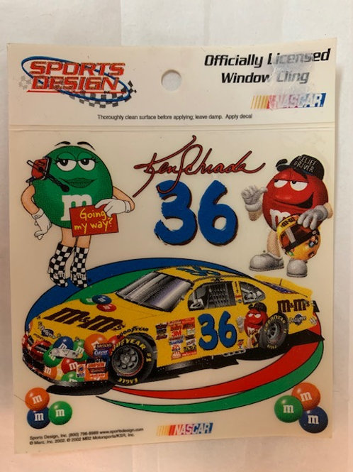 2002 M&M's Small Characters Decal / Ken Schrader  Decal #1