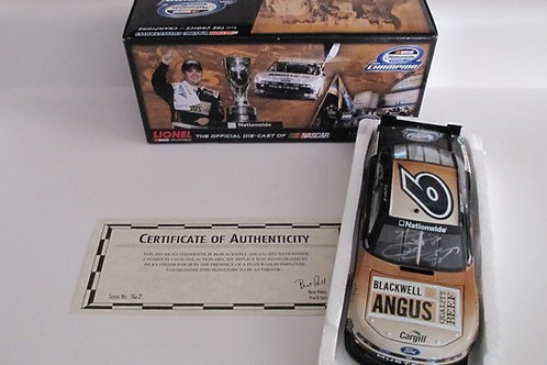 2011 Autographed  Blackwell Angus Nationwide Champ /Ricky Stenhouse Jr 1:24 Wall