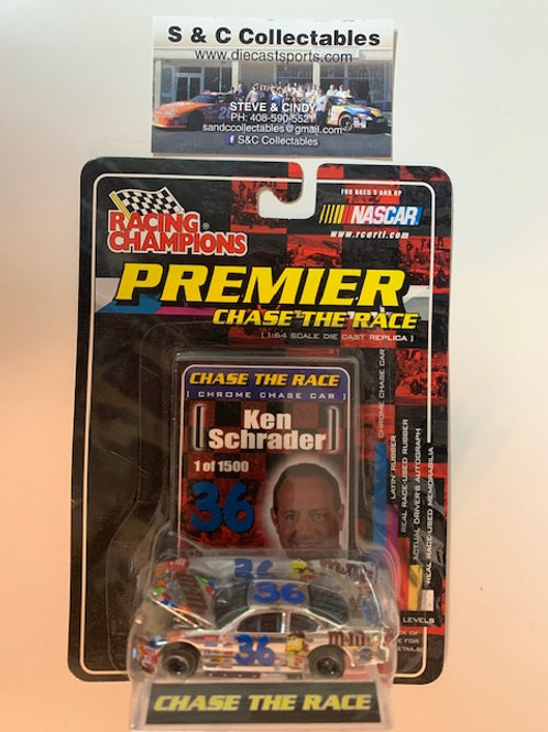2001 M&M's with a Car Cover Chrome Chase Car / Ken Schrader 1:64 Box#36