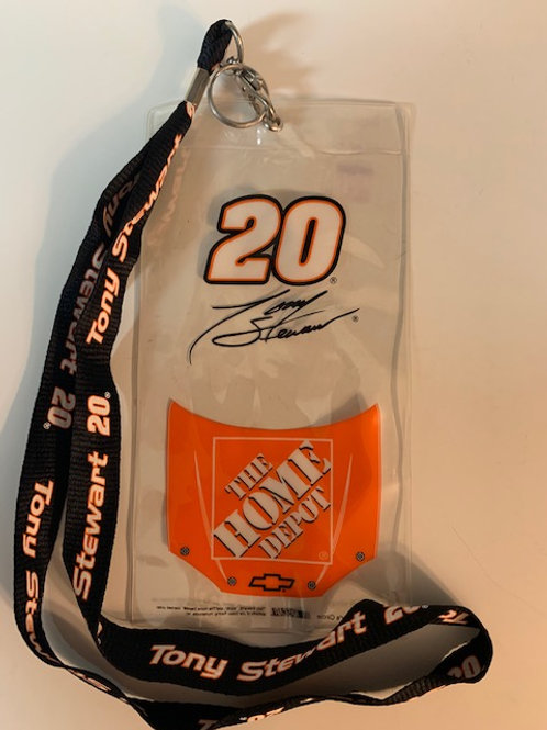 2006 The Home Depot  Credential Holder w/Lanyard / Tony Stewart  Box# 100