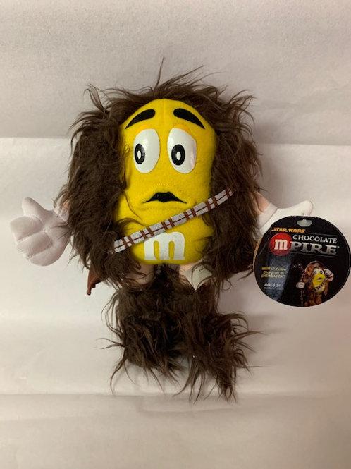 "2005 M&M's  Screaming Yellow as Chewbacca Star Wars 8"" Tall / M&M Stuff Box#1"