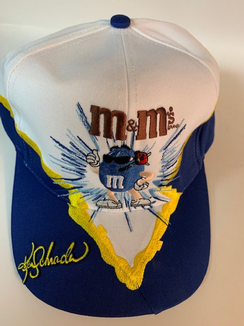 2002 M&M Cool Blue Hat (NEW)  / Ken Schrader Hat#5