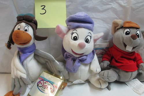 The Rescuers - Blanca, Berbard, & Orville / Disney Beanies