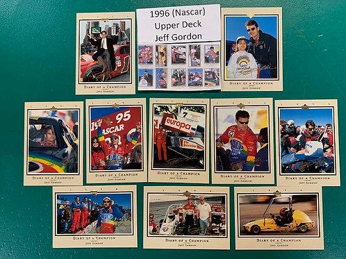 1996 Upper Deck  Jeff Gordon 10 Card Set  (NASCAR)  Box# BB