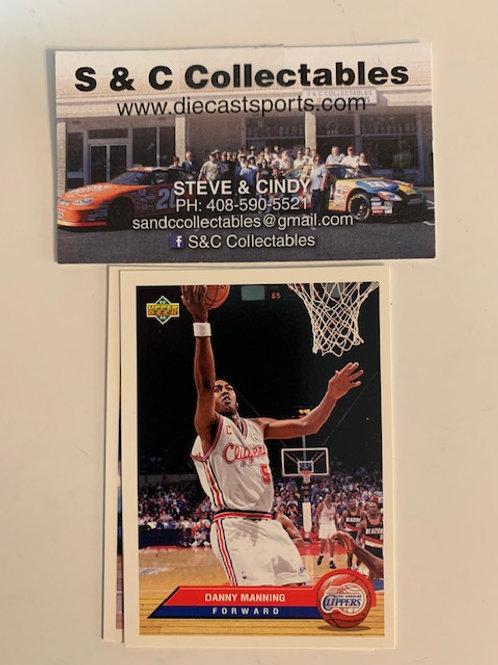 1992-93  Upper Deck Danny Manning Forward Card# P20  / Basketball--BK1