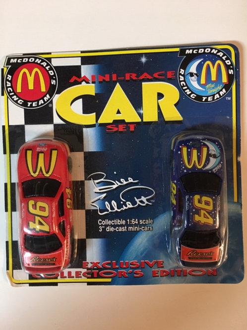 1997 McDanald's & McDanald's Mac to Night 2 Car Set / Bill Elliott 1:64