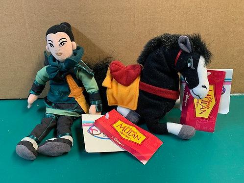 Disney Beanies Khan Horse & Mulan Warrior