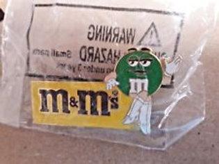 2002 M&M's Ms Green Hat Pins / Ken Schrader  Hat Pit #1