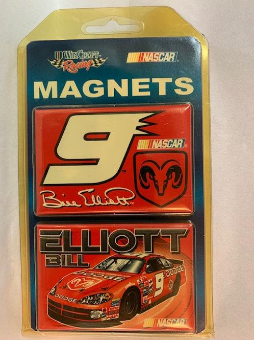 """2002-04 Two Pack Magnets 3"""" X 2"""" New /  Bill Elliott   Corner Shelf  1"""