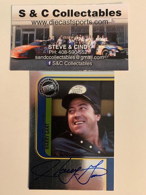 2005 Autographed Press Pass NASCAR Legends / Harry Gant Cards