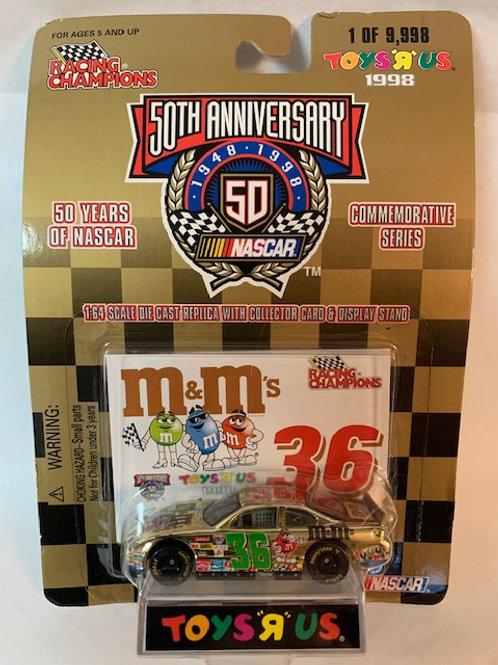1998 M&M's Chrome Car (Toys R Us) / Ernie Irvan 1:64 Box# 1