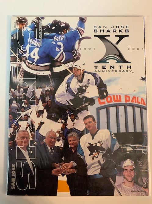 1999 San Jose Sharks Magazine Vo l. 10 No.2 / San Jose Sharks X Anniversary