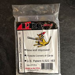 Pro Mold Memorabilla Card 1 Screw Card Holder / Ultra Pro - Supplies ..Peg