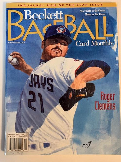 1997 Beckett Card Monthly Issue# 153 / Roger Clemens-Baseball