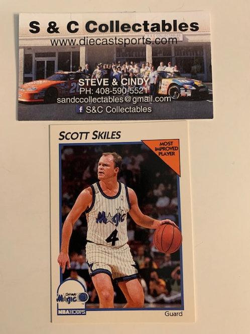 1991-92 NBA Hoops Scott Skiles  Card# 29 / Basketball-BK1