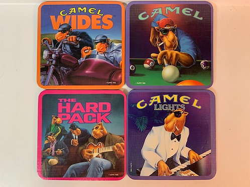 1992 Camel Cigarettes Coasters Complete Set of 4 Joe Camel (No Box) Drawer# 1