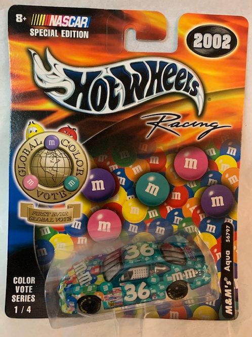 2002  M&M's Aqua -First Ever Global Color Vote / Ken Schrader 1:6 Box#15