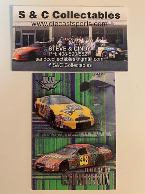 2004 High Gear Wheels  Carmeleon  Elliott Sadler / Cards  Box# FF