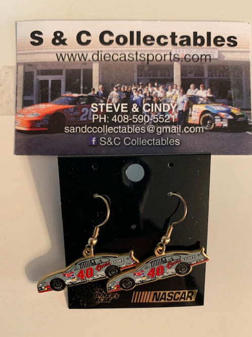 2000 Coors Light Earrings / Sterling Marlin   Hat Pit #7