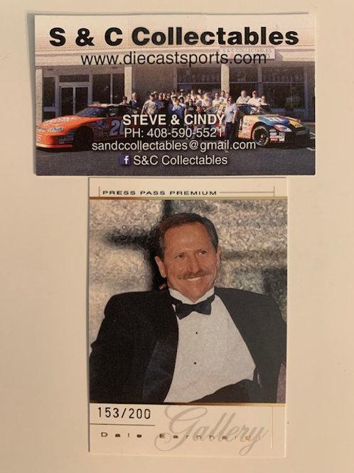 2004 Gallery Press Pass The Man in Black #153/200  / Dale Earnhardt Sr.  Box# FF