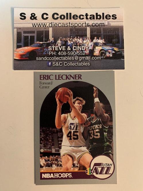 1990-91 NBA Hoops Eric Leckner Forward/Center  Card# 291 / Basketball-BK1