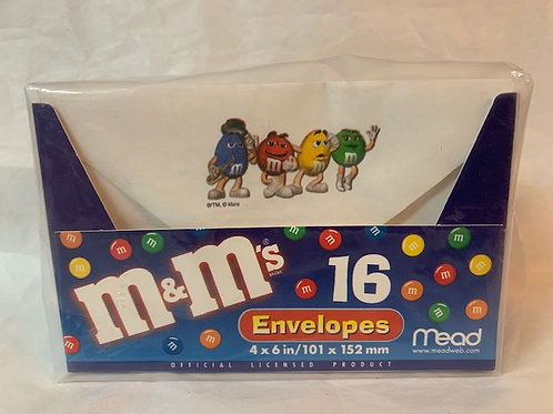 ???? M&M Character Envelopes  16 Each (New Not Opened) / M&M Stuff  Box# 98