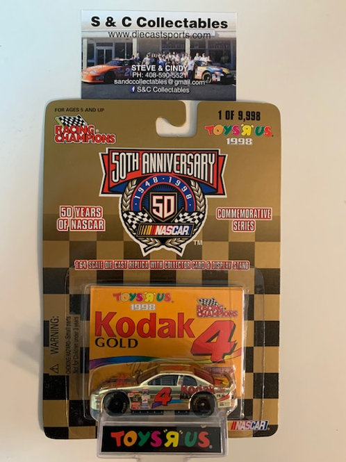 1998 Kodak Gold Toy's R Us Gold Car / Bobby Hamilton 1:64 Box# 41