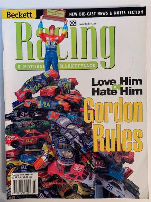 1999 Beckett Card Monthly Issue# 54 /Jeff Gordon