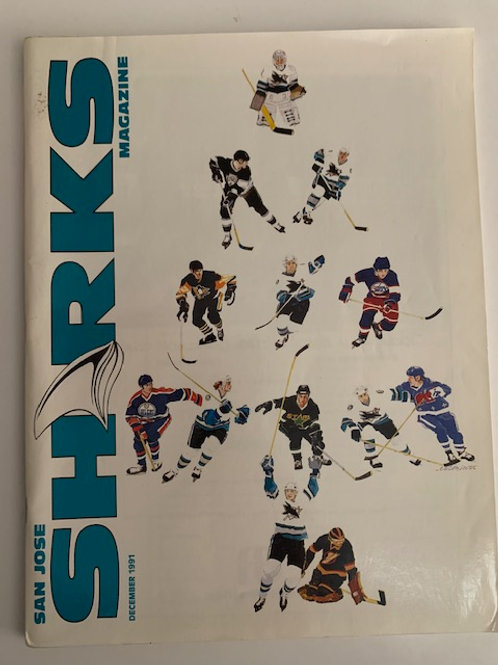 1991 San Jose Sharks Magazine December 1991
