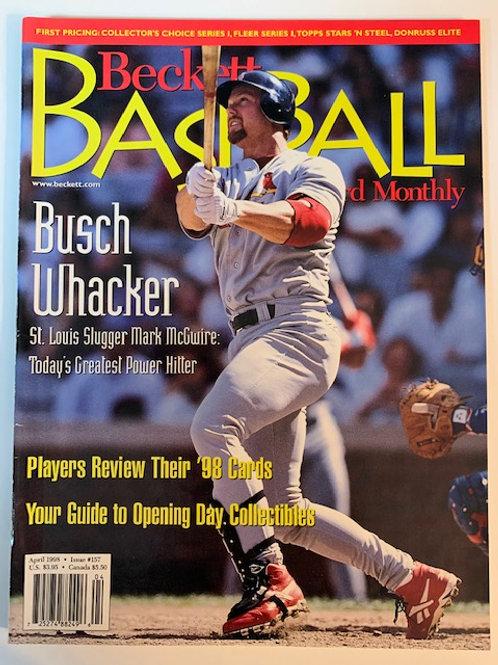 1998 Beckett Card Monthly Issue# 157 / Mark McGuire-Baseball