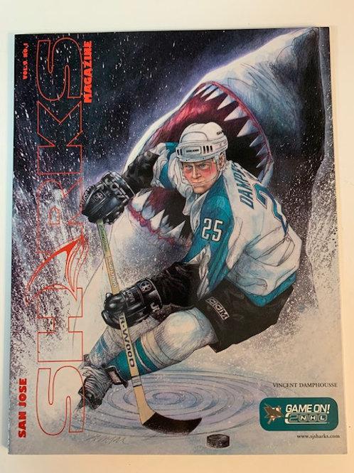 1999 San Jose Sharks Magazine Vol. 9 No.1 / Vincent Damphousse