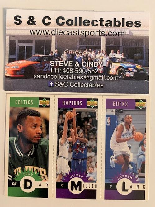 1996-97 Upper Deck M4 Day, M80 Miller, M49 Lang / Basketball--BK1