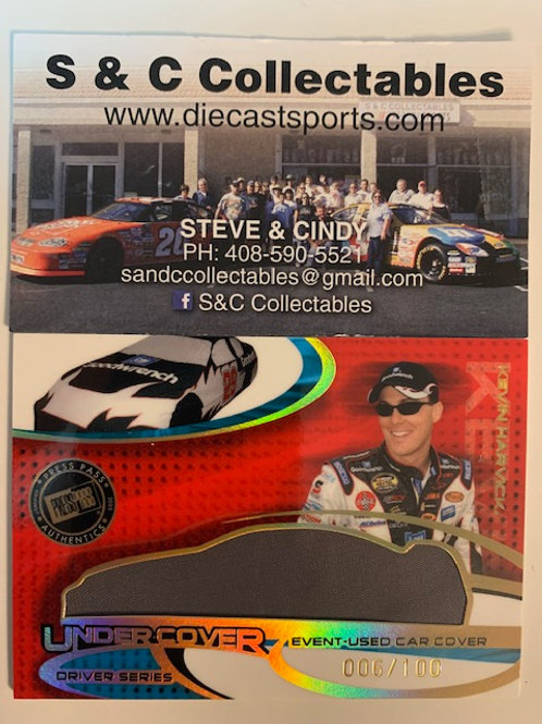 2004 Race-Used Car Cover Gold / Kevin Harvick Cards